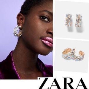 Gorgeous gemstone earrings from Zara